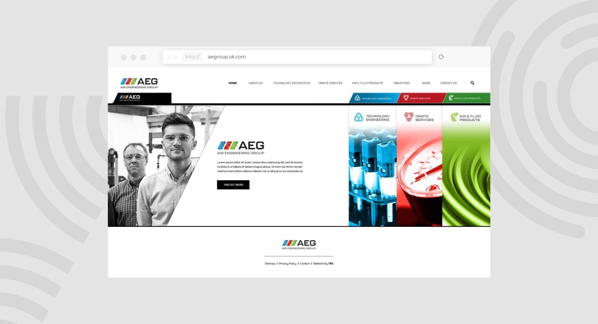 Air Engineering Group Website Homepage