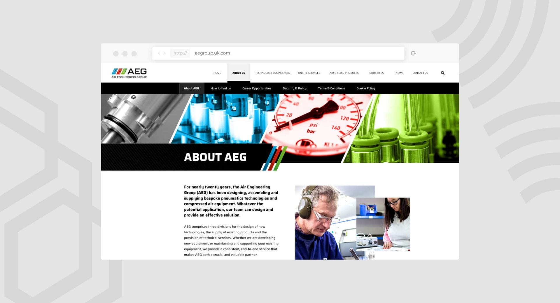 Air Engineering Group Website About Page