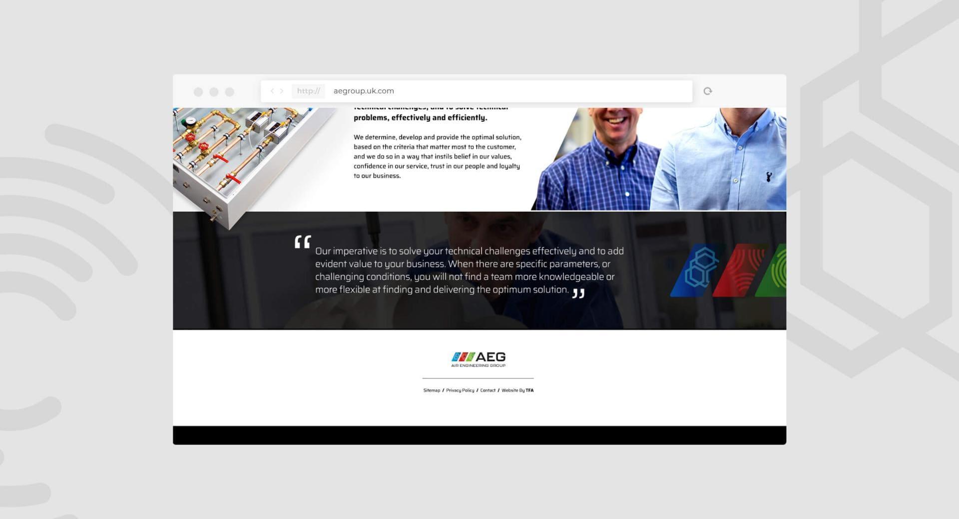 Air Engineering Group Website Homepage End