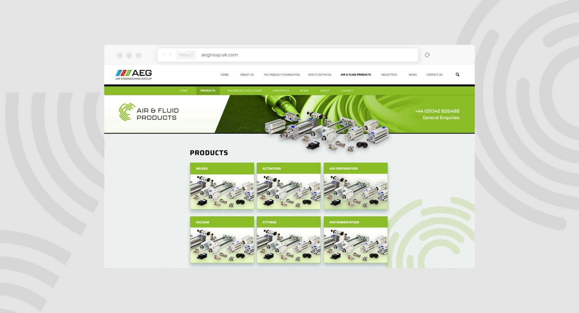 Air Engineering Group Website Product Page