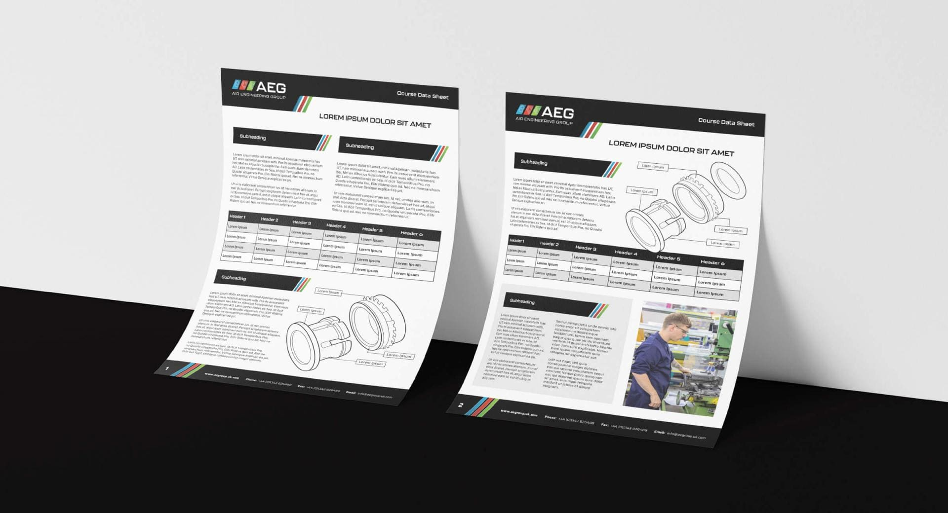 Air Engineering Group Specification Sheets