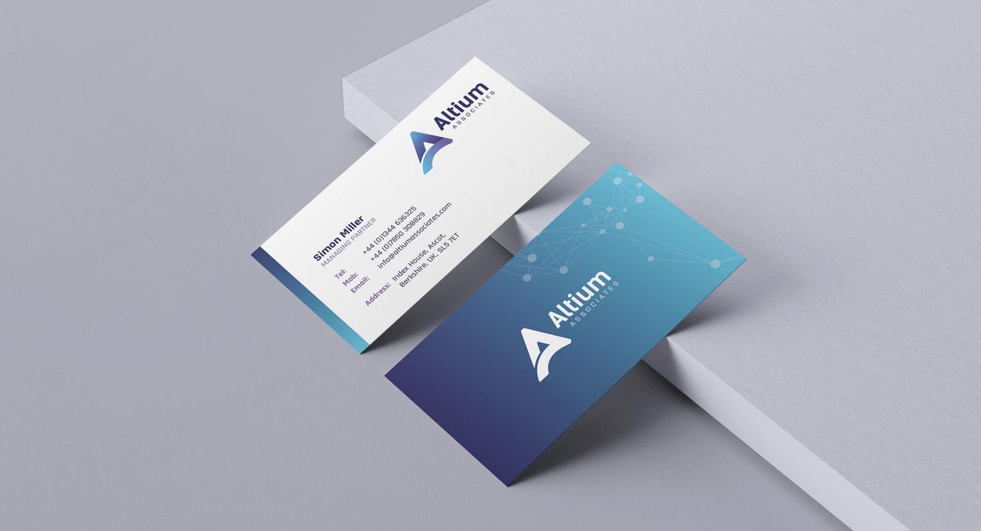 Altium Associates Business Card Designs