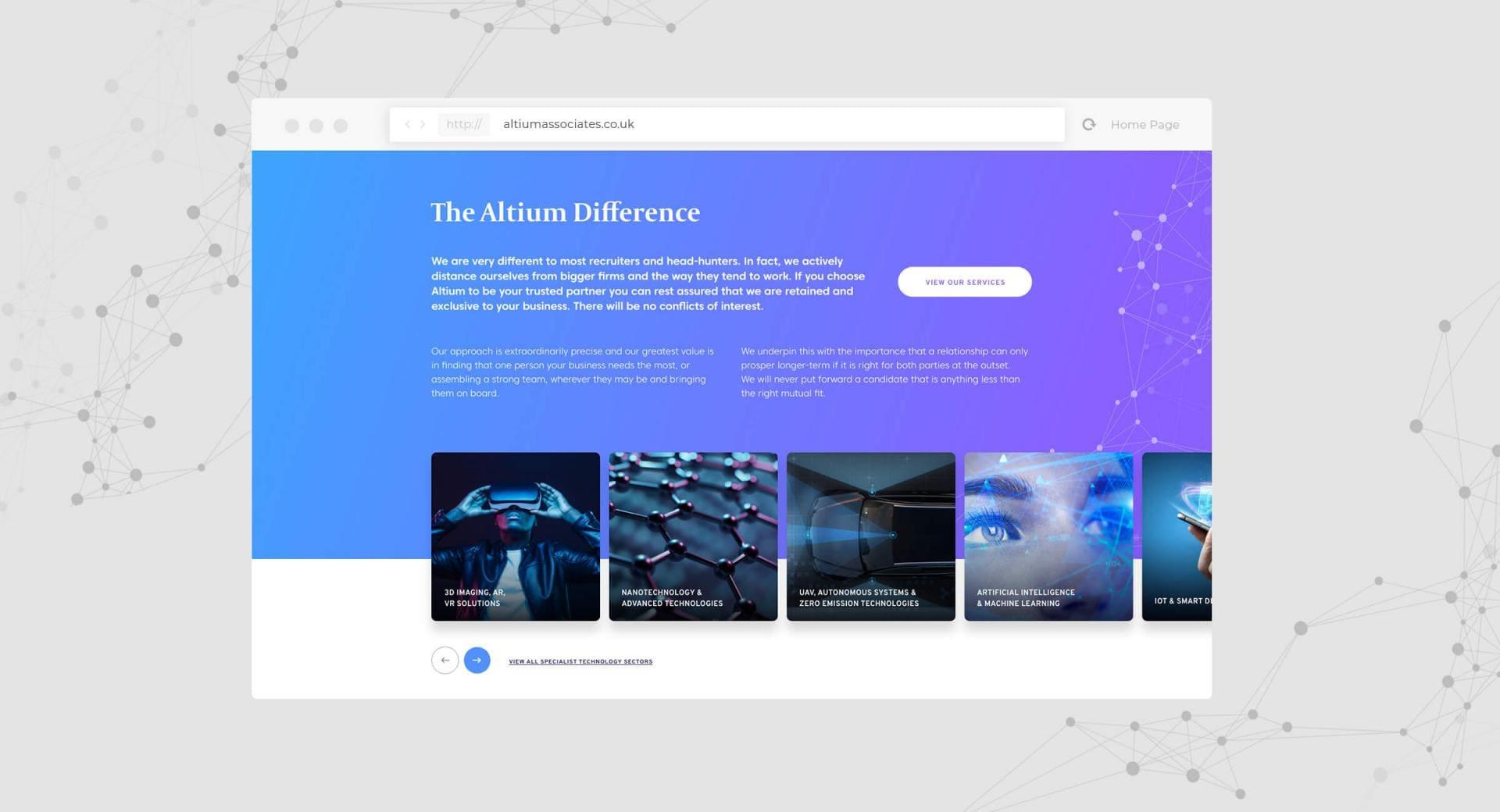 Altium Associates Website - The Altium Different Screenshot