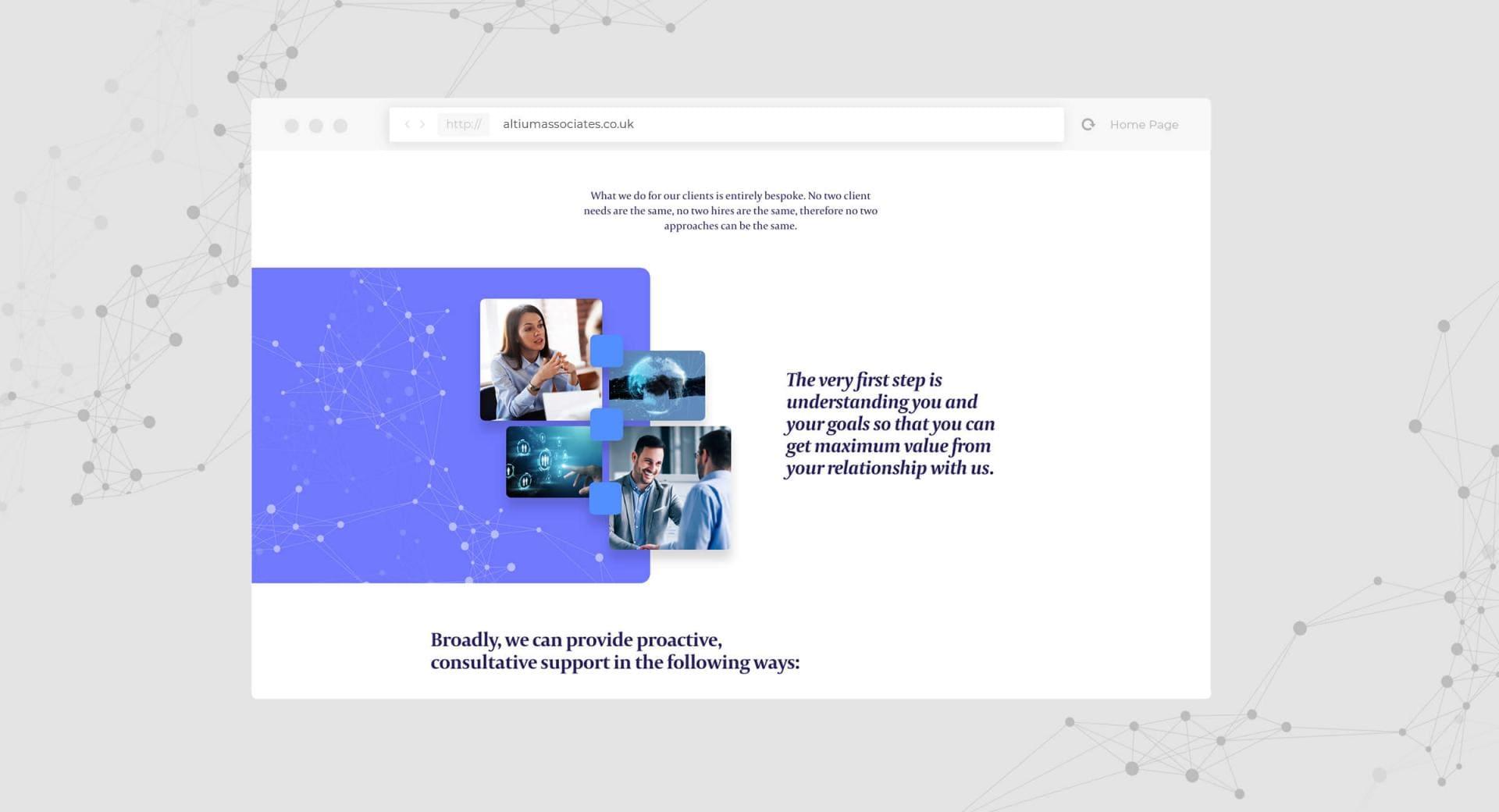 Altium Associates Website - Our Clients Screenshot