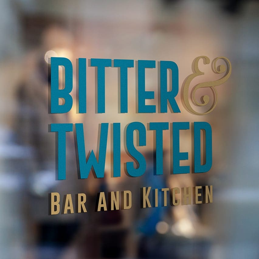 Bitter & Twisted Branding Tile