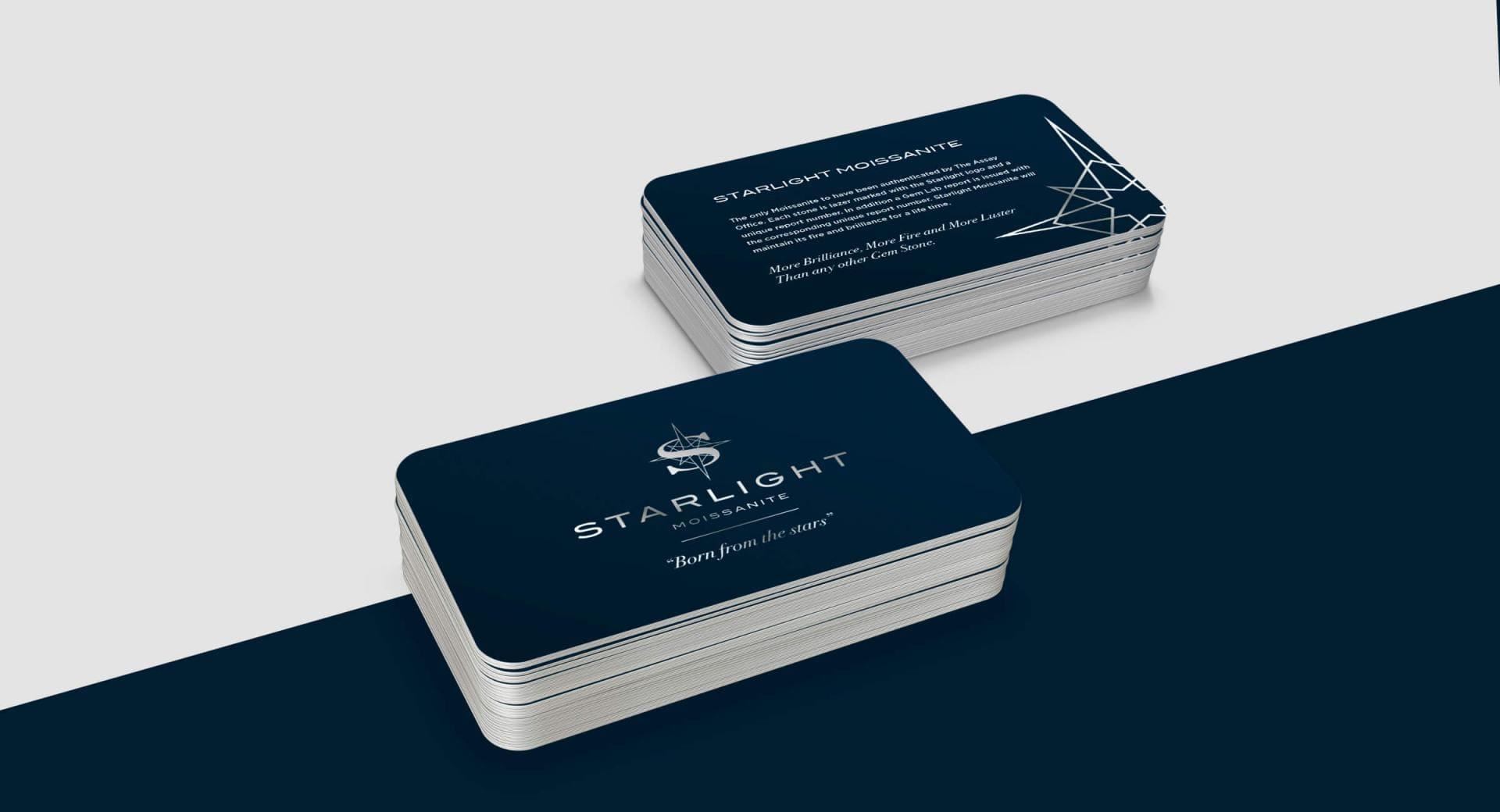 Starlight Moissanite Business Card