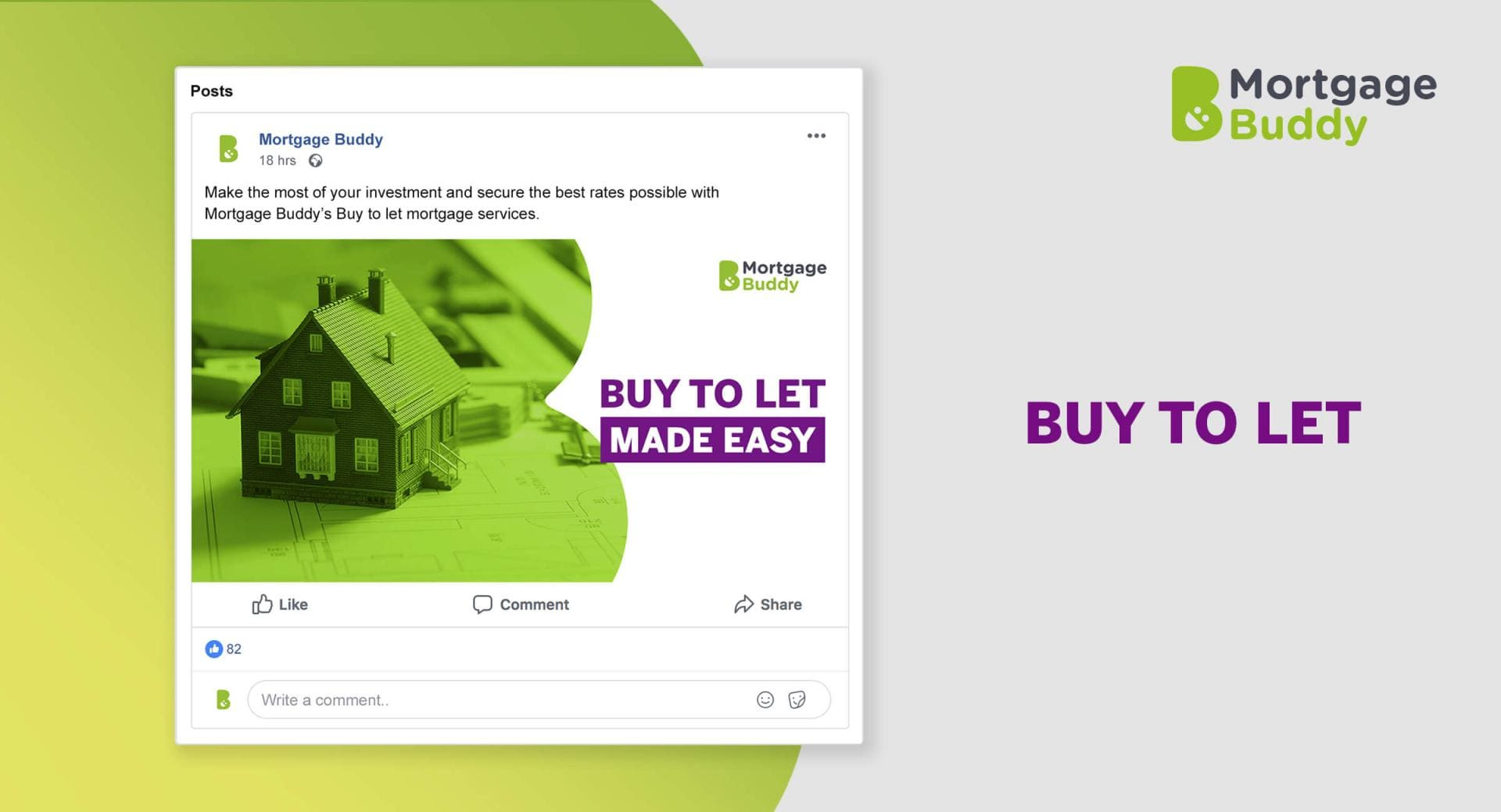 Screenshot of Facebook Advertisement showing an architects model of a house on house blueprints